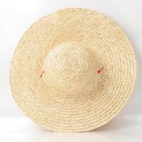 草帽大号工用农用农民草帽编织遮阳防晒男儿童工地帽子大沿 特优质拍10个 可调节