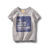 童装夏季男童短袖t恤中大童儿童中性男孩上衣