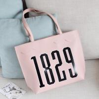 包包女秋冬新款韩版大包包简约时尚手提包百搭潮流单肩包 粉色
