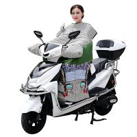电动车挡风被冬季加绒加厚防水电瓶踏板摩托车防风罩防寒保暖电车新品 小猪佩奇 粉色