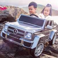 奔驰大g儿童电动汽车四轮遥控越野宝宝玩具双座可坐大人双人小孩