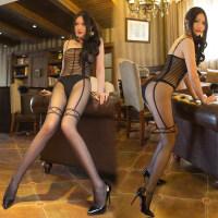 性感开档连体情趣丝袜迷人透明黑丝袜连身袜连裤袜 均码