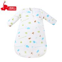 南极人婴儿睡袋秋冬季分腿蘑菇宝宝睡袋纯棉新生儿加厚儿童防踢被
