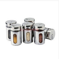 红兔子 不锈钢多功能调味罐/调料罐/胡椒粉罐/不锈钢调料罐 调味瓶2个装