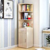 【满减优惠】落地转角书柜书架经济型储物柜多功能墙角置物柜简约现代收纳架子