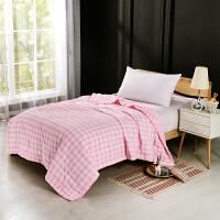 当当优品家纺 水洗棉裸睡夏凉被 双人空调被 俏丽(粉)