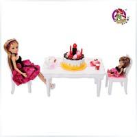 全店满99包邮!乐吉儿生日派对洋布芭比娃娃套装礼盒正品2014可儿女孩玩具