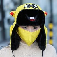 帽子女冬天骑车防风帽保暖护耳棉帽男儿童秋冬季韩版可爱帽女新品
