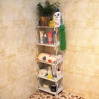 欧式铁艺落地式置物架浴室架收纳架摆放架门厅鞋架花架书架