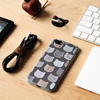 【支持礼品卡】�有脑�创 iPhone7手机壳 脸谱猫咪 进口TPU 苹果6/6P 文艺可爱 保护套