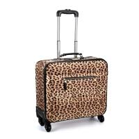 西班牙悔单旅行箱欧美可爱迷你小行李箱17寸箱包 拉杆箱 豹纹 17寸