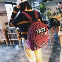 双肩包女韩版2018新款百搭软皮背包书包女中学生女包 红色