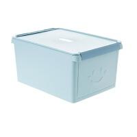 抽屉式可叠加有盖储物箱 前开式塑料收纳箱衣柜装衣服箱子 36*25.5*18.5cm