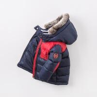 davebella戴维贝拉2017冬季新款棉衣 男童连帽加棉保暖棉服DB5931