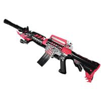 M4A1黑骑士电动连发软弹枪冲锋枪雷神AK47儿童玩具枪绝地吃鸡1男孩 【巴雷特暗刹星-金】 电动连发