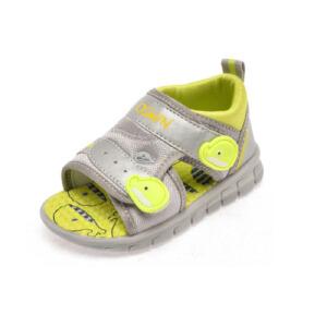 鞋柜夏季新款 卡通按摩豆平跟魔术贴男童鞋凉鞋防滑