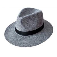 中老年人夏季帽子男士礼帽爸爸防晒透气亚麻礼帽凉帽爷爷户外遮阳
