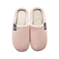 时尚冬季男女棉拖鞋包跟简约日系家居拖鞋防滑厚底居家情侣拖鞋