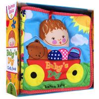 顺丰发货 英文原版绘本 Baby's Day: Cloth Book 布书 0-3岁宝宝学习玩乐 亲子互动游戏书籍 不怕撕咬