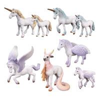 天马飞马独角兽独角马模型儿童仿真神兽精灵马动物模型玩具
