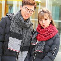 情侣男女保暖毛线围巾韩版男士围巾学生加厚长款围脖