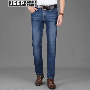 JEEP美国吉普牛仔裤春夏新品轻薄舒适弹力裤子商务休闲棉质直筒修身长裤