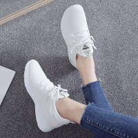 小白鞋女2018夏季新款网面帆布鞋初中生女鞋百搭运动鞋网鞋潮