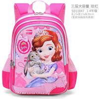 迪士尼女童书包小学生1-3-6年级6-12周岁苏菲亚女孩书包儿童背包