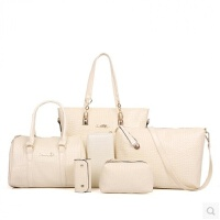 女包2018新款时尚子母包六件套鳄鱼纹女士包包手提包单肩包斜挎