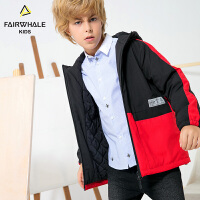 马克华菲童装男童冬装新款时尚保暖外套儿童休闲加厚羊毛夹克