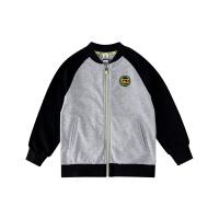 小猪班纳童装男童外套2020春秋新款洋气儿童纯棉拉链衫运动风外衣