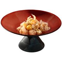 北欧轻奢玻璃水果盘创意个性糖果零食收纳盘客厅茶几家用装饰摆件