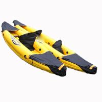 PATHFINDER橙黄色单人独木舟 皮划艇 橡皮艇 充气船 夹网运动船