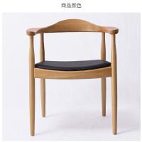 实木椅子肯尼迪总统椅北欧餐厅椅美式实木餐椅现代简约书桌电脑椅