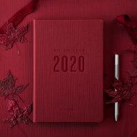 卡杰2020日程日历计划本笔记本子简约大学生个性创意手账女记事本横线本男时间管理大学生商务办公可定制logo