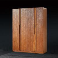 家具衣柜 简约现代 经济型卧室中式实木板式结合衣柜收纳组装