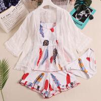 泳衣女连体小胸钢托两件套蕾丝罩衫款性感韩国泡温泉印花泳装