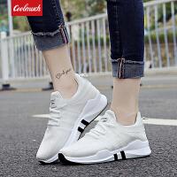 【折上1件9折/2件8.5折】Coolmuch女跑鞋2019新款轻便耐磨防滑透气运动休闲跑步鞋KMY82