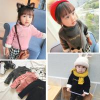 婴幼儿童宝宝棉袄加绒夹棉卫衣外套柔软绒衫百搭款冬季0-5