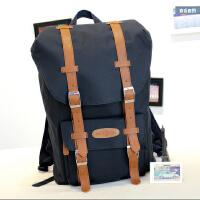 双肩包女韩版潮初中学生书包男学院风撞色背包旅行包大容量电脑包