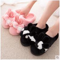 韩版卡通棉拖鞋女包跟冬季保暖防滑室内毛毛棉鞋家居家棉拖鞋