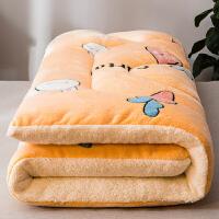 加厚羊羔绒床垫软垫保暖夹棉床褥子冬天海绵榻榻米铺宿舍毛绒垫被