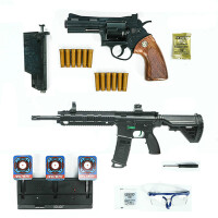 手动小月亮左轮儿童M416水珠弹水晶弹水珠弹枪 玩具抢模型可发射抛壳蟒蛇 +M416+电动靶