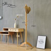 实木衣架落地卧室客厅家用省空间挂衣架简约现代创意多功能衣帽架