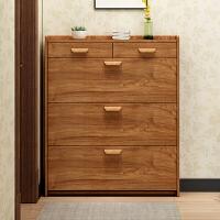 翻斗鞋柜17cm简约现代门厅柜带抽实木色家用简易经济型省空间 组装