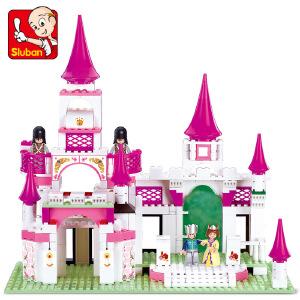 【当当自营】小鲁班粉色梦想女孩系列儿童益智拼装积木玩具 梦幻城堡M38-B0151