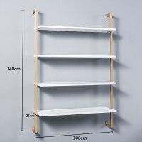 墙上置物架壁挂式墙壁面书架一字搁隔板北欧简约实木层板卧室客厅