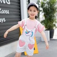 2018新款背带裤5夏装韩版6儿童夏季吊带裤洋气短裤9套装4童装女童