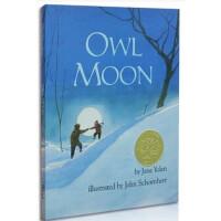 顺丰发货 Owl Moon 月下看猫头鹰 Jane Yolen 1988年 凯迪克金奖绘本 精装  美国Top100 百本必读英文原版绘本