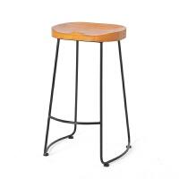 实木吧台高桌椅组合网红奶茶咖啡店露台靠墙餐饮阳台水吧窄桌高桌